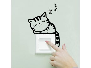 Dekorační samolepka nad vypínač - kočička