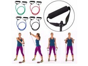 Cvičení - fitness - odporové gumy na domácí cvičení v různých odporech - cvičení doma - výprodej skladu