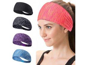 Cvičení - fitness - čelenka do vlasů vhodná na cvičení - čelenka do vlasů - účesy