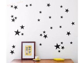 Samolepící hvězdičky na zeď - 38ks - barevné varianty - SLEVA 80% (Barva Šedá)