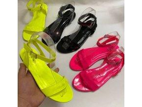 Boty - pantofle - dámské boty - letní módní dámské sandály s páskem - dámské sandále  - výprodej skladu