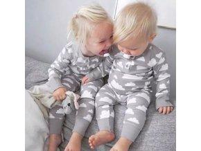 Dětské oblečení - krásný set body + čepička vhodné pro holčičku i chlapečka - body - čepice - slevy dnes