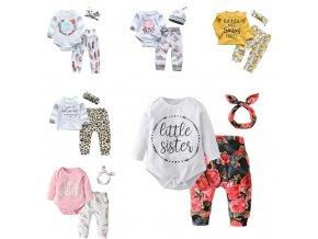 Dětské oblečení - krásný sety pro holčičku v různých variantách - tričko - legíny - výprodej slevy - body