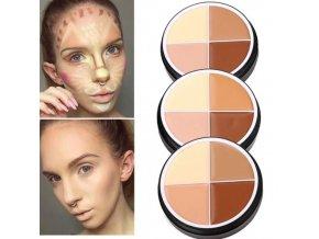 Kosmetika - make up - konturovací gelová paletka - líčení - výprodej skladu