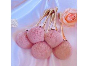 Kosmetika - make up - krásný štětec na pudr v rose gold barvě - štětec - výprodej skladu