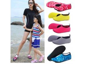 Boty - dámské boty - pohodlné nazouvací boty do vody - boty do vody - léto