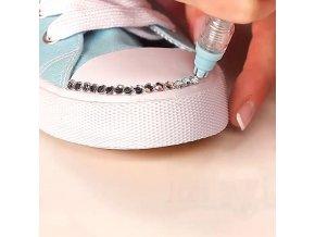 Oblečení - pero s kamínky na různé zdobení - pero - tvoření - výprodej skladu