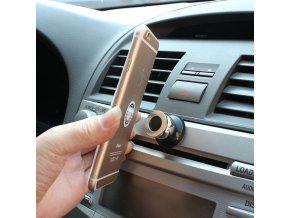 Magnetický držáček telefonu do auta - SLEVA 50% (Barva Černá)