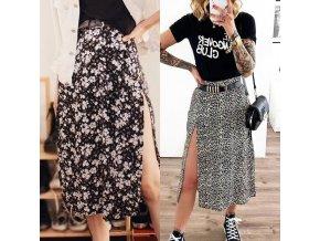 oblečení  - sukně - dámská letní sukně s rozparkem ve dvou variantách - letní sukně - dárky pro ženu