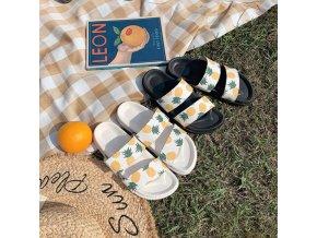 Boty - dámské boty - dámské letní pantofle s potiskem anansů - pantofle - dámské pantofle