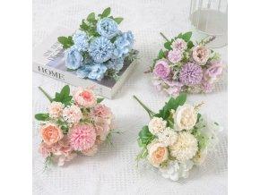 Dekorace - květiny - dekorativní umělá květina s pivoňkami - umělé květiny - výprodej skladu