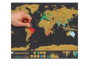 Dekorace - mapa - stírací mapa světa ve více variantách - mapy - stírací mapa světa