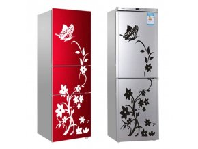 Dekorace - nalepovací dekorativní samolepka na lednici s motýly - samolepky - lednice