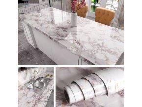 Dekorace - vodotěsné nalepovací tapety v mramorovém vzoru - tapety - samolepící tapety
