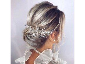 Vlasy - účesy - dekorace do vlasů vhodná na svatbu - svatební účesy - svatba