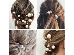 Vlasy - účesy - zapichovací ozdobné pírko do vlasů na dozdobení účesů - pírko - ozdoby