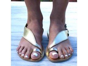 Boty - dámské boty - dámské letní pohodlné sandály na palec - dámské sandály