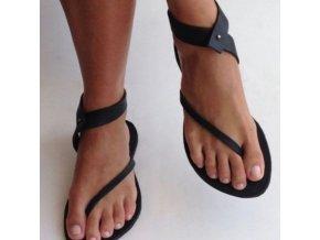 Boty - dámské boty - dámské letní sandály v gladiátorském stylu - dámské pantofle - výprodej skladu
