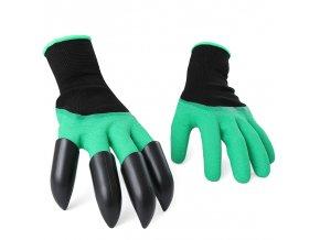 Praktické zahradní rukavice s drápy