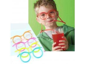 Stylová gumová brčka - různé barvy - SLEVA 60% (Barva Růžová)