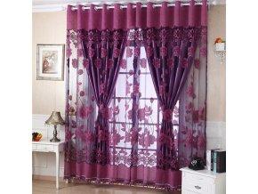 Luxusní záclona - různé barvy - SLEVA 30% (Barva Fialová)