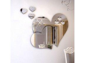 Exkluzivní srdce jako samolepicí dekorace (Barva Žlutá)