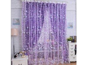 Stylová fialová záclona - 200x100cm