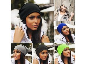 Příjemná dámská čepice - více barev - SLEVA 71% (Barva Žlutá)