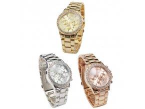 Dámské luxusní hodinky - zlaté/stříbrné/ bronzové - SLEVA 60% (Barva Zlatá)