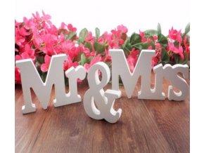 Dřevěná dekorace do bytu - Mr & Mrs