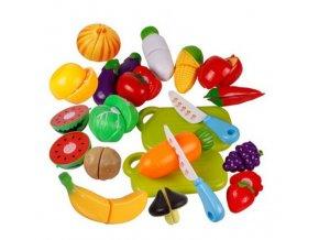 Dětské plastové hračky - Ovoce a Zelenina 6ks