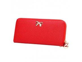 Dámská červená peněženka s pozlacenými detaily
