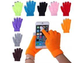Zimní dotykové rukavice na libovolný mobilní telefon - výběr z 9 barev - SLEVA 50% (Barva Černá)