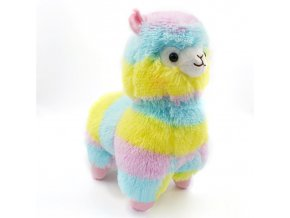 Plyšová hračka pro děti - barevná lama