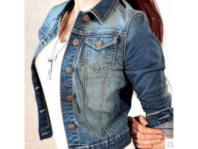 Dámská džínová bunda - SLEVA 40% (Velikost S)