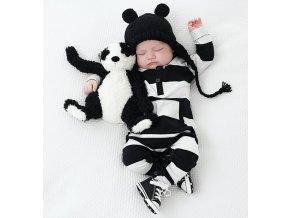 Černobílé dětské body - SLEVA 20% (Velikost XL)