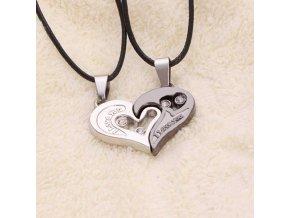 Stylový romantický náhrdelník pro páry