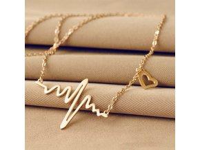 Dámský stylový náhrdelník - SLEVA 80% (Barva Zlatá)