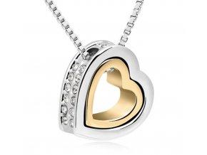 Dámský srdíčkový náhrdelník - SLEVA 70% (Typ 4)