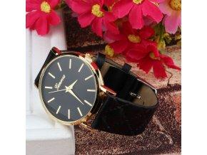 Stylové dámské hodinky s koženým páskem - SLEVA 80% (Barva Růžová)