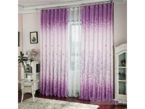 Moderní fialová záclona do obýváku
