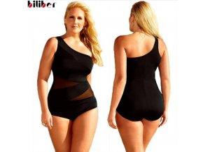 Dámské jednodílné plavky Biliber černé (Velikost XXXL)