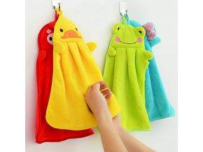 Osuška na ruce s motivem zvířátka - různé barvy - SLEVA 30% (Barva Žlutá)