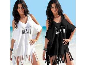 Dámská letní plážová tunika přes plavky