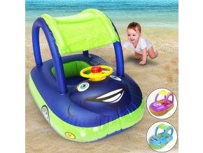 Dětské nafukovací autíčko do vody (Barva Růžová)