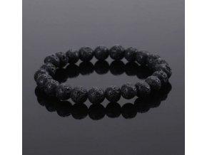 Ručně vyráběný náramek z černých lávových kamenů Lava Energy - tipy na vánoční dárky pro muže i ženy