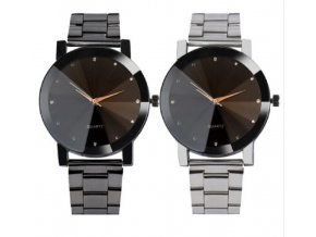 Pánské náramkové hodinky na ruku s kovovým páskem - levný tip na dárek pro muže