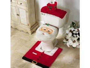 Vánoční dekorace set na WC - Santa na toaletu na Vánoce