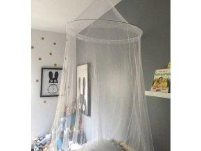 Velká síť proti hmyzu a komárům k zavěšení nad postel