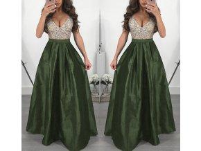 Dlouhé elegantní plesové šaty zelené až 3XL NOVINKA